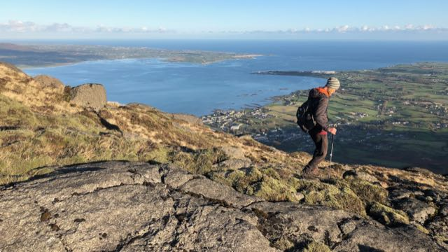 Hiking on Slieve Foye above Carlingford